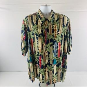 Reyn Spooner Hawaiian Tradionals Surfing Theme  XL